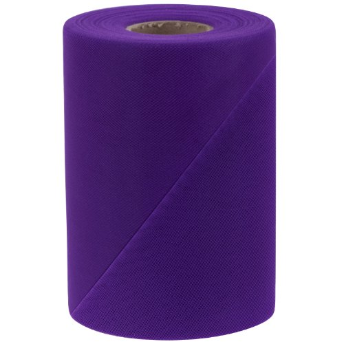 Falk Fabrics Tulle Spool, 6-Inch by 100-Yard, Purple