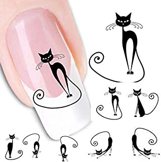 giokfine Nail Stickers Cat Water Transfer Slide Decal Sticker Nail Art Tips To Decor XF1442
