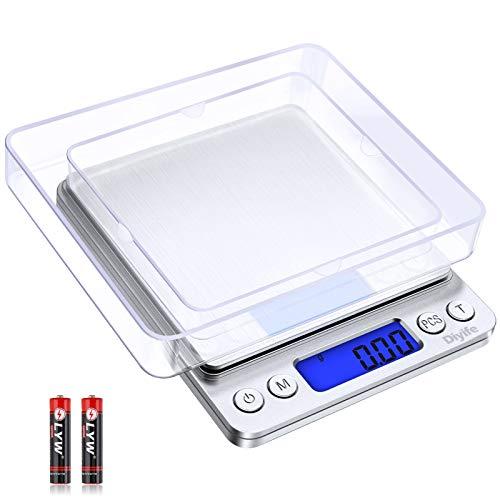 Diyife Báscula Digital de Cocina, 0.01g/500g Báscula Elect
