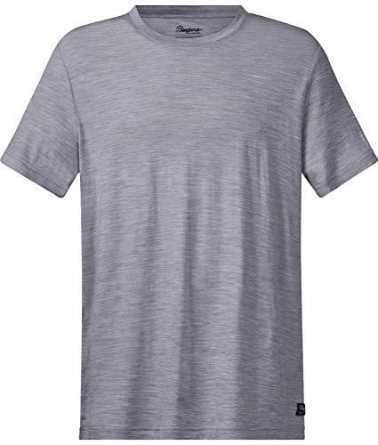 Bergans Oslo Wool - T-Shirt Manches Courtes Homme - Gris Modèle S 2019 Tshirt Manches Courtes