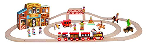 Janod-J08527-Circuit en Bois-Story Express Far West