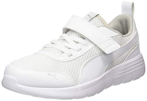 PUMA Unisex Baby Flex Renew Ac Ps Sneaker, Weiß White-Gray Violet 01, 35 EU