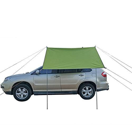 2x4m / 3x2m Coche Side Thick Tienda Impermeable Tienda Tienda Tienda Tienda Costura Sombrilla Al Aire Libre Camping Senderismo Tienda Automóvil Costople (Color : Khaki 200x440cm)