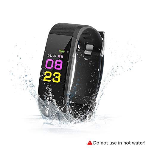 SAVFY Fitness-Armband IP67 wasserdichter Tracker, Bluetooth 5.0 Smart Watch mit Blutdruck/Oximeter und Pulsmesser für iPhone iOS 8.0 + / Android