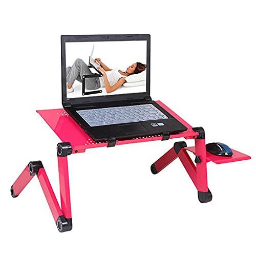 Laptop Klapptisch laptopständer betttablett frühstückstablett fürs Bett lesepult, Sofa Tisch mit der tragbaren ergonomischen für 17 Zoll Computer-rot