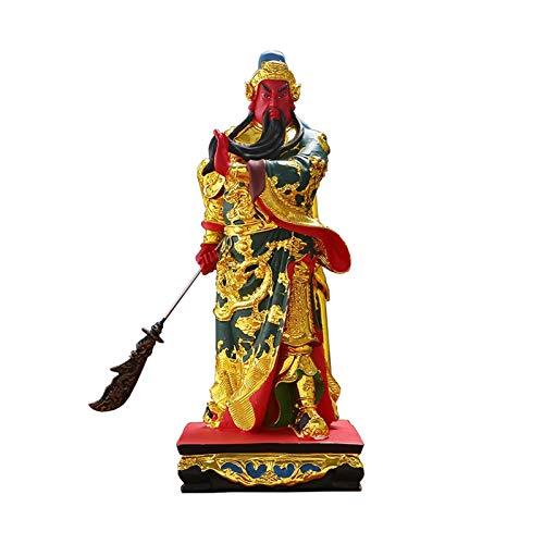 Adornos para la Sala Estar, Exquisita Estatua China Feng Shui Guan Yu/Estatua Guan Gong Decoración Feng Shui para la Oficina en el hogar Decoración Mesa Good Lucky Gifts Adorno Decorativo para el ho