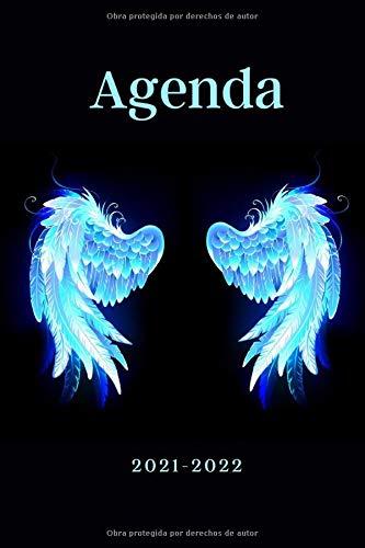 Agenda 2021-2022: Alas de Ángel de la Guarda Protector, Calendario, Agenda Semanal y Mensual, Regalo Perfecto de Navidad, Papá Noel o Reyes Magos