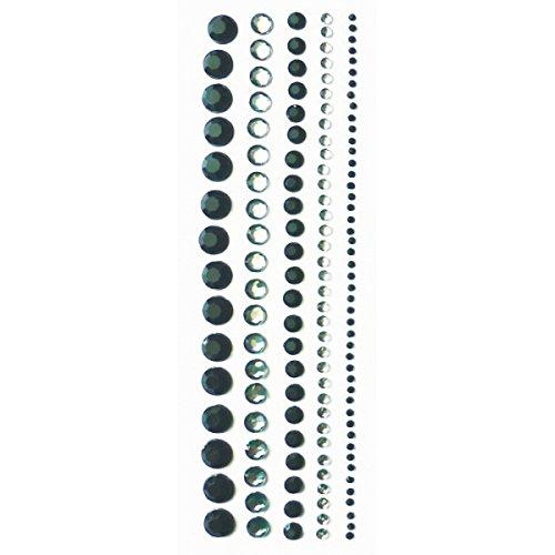 Strass Adhésifs Noirs - Lot de 140 strass sur bande