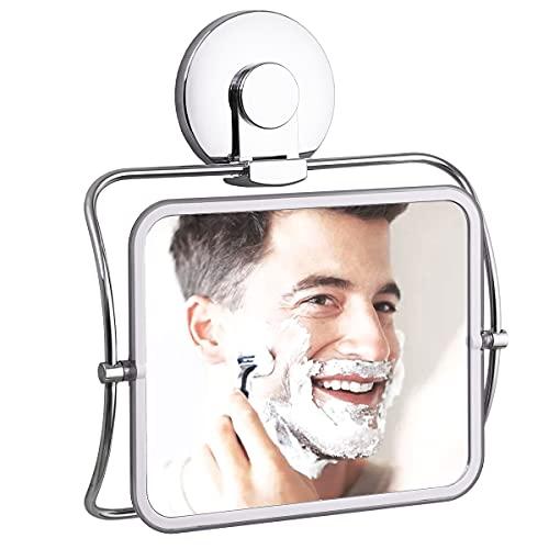 VELMADE Fogless Shower Mirror, 360 Degree Rotating, Shower Mirror for Shaving Fogless with Suction