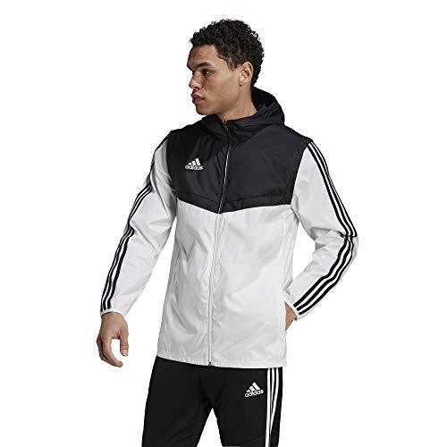 adidas Men's Tiro Windbreaker, White/Black, Medium