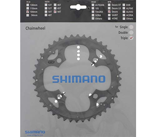 SHIMANO DEORE FC-M590 Kettenblatt, Grau, 104 mm