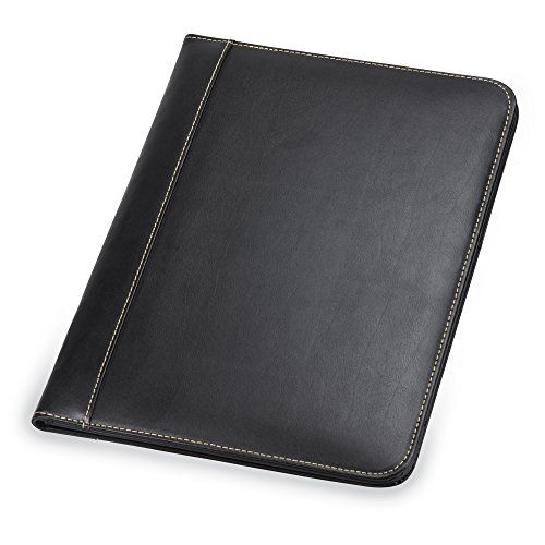Samsill 71710 Contrast Stitch Leather Padfolio – Lightweight &...