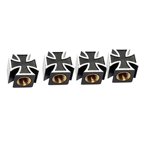 Pratico styling per auto Croce di ferro Ruote per pneumatici Valvole Cappucci parapolvere Valvole per tappi per auto per moto Valvole Tappi per steli