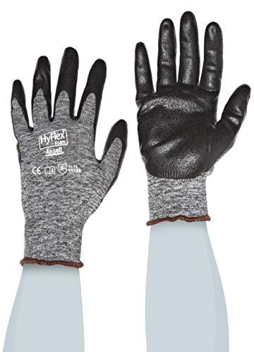 Ansell HyFlex 11-801 Arbeitshandschuhe, Industrie und Mechaniker-Handschuh, Verbesserter Griff- und Komforttechnologie, Grau Schwarz Größe 9 (12 Paar)
