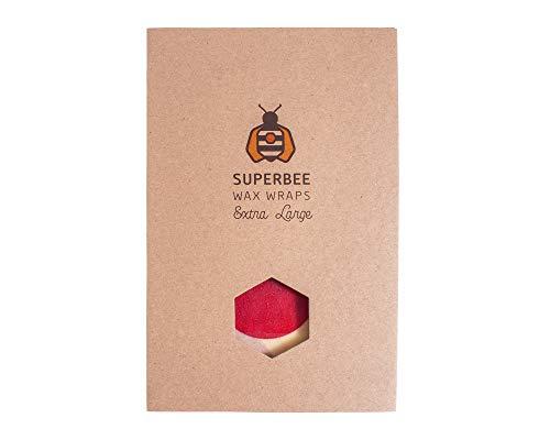 SuperBee Wax Wraps | Bienenwachstücher | Big Daddy Wrap | Extra Large | 40 x 50cm