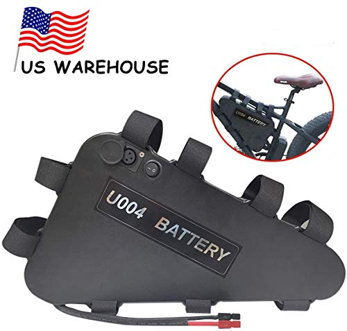 Co-well 48V 20AH Electric Bicycles Battery, Ebike Battery Triangle, Lithium Ion Bike Battery with BMS and Charger for 48V 1000W/750W/500W Bike Motor Mountain Bicycle
