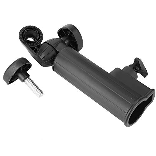 DEWIN Golf Push Trolley Regenschirm Halter Verstellbar Universal Schwarz Kunststoffständer Push Pull Fahrradwagen