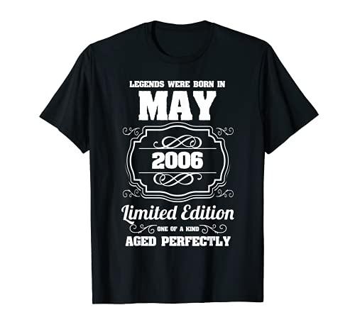 Las leyendas nacieron en mayo de 2006 15 Cumpleaños Camiseta