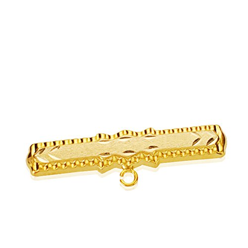 Anstecker Baby Gold 18KTES Barock. Individuell: Gravur enthalten.