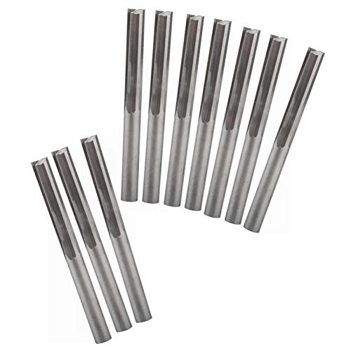 Wnuanjun 10 Pcs 4 * 22mm Two Flutes Straight Bits,Wood Cutters,CNC Solid Carbide CNC Router Bit,Router Cutters
