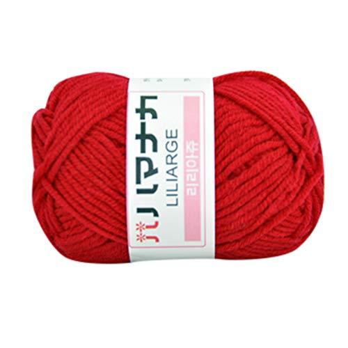H.Eternal hilo de algodón 1 unidad, 25 g, grueso, colorido, para tejer a mano, de algodón, ganchillo, lana de ganchillo, lana de punto doble, pompones, madera, J, M