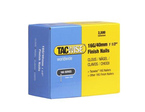 Tacwise 0319 Clous de Finition 16G/40 mm, Boîte de 2.500