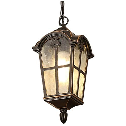 SPNEC Lámpara Colgante, de Aluminio Fundido Diseño del Cuerpo de la lámpara, Robusto y Durable, Simple de Estilo Americano Balcón Patio Decoración de la lámpara