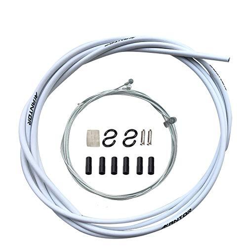 Juego de cables de freno de cable exterior delantero y trasero (blanco)
