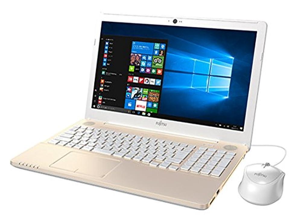 矩形政治愛撫富士通 15.6型 ノートパソコンFMV LIFEBOOK AH42/B2 シャンパンゴールド(Office Home&Business Premium プラス Office 365) FMVA42B2G