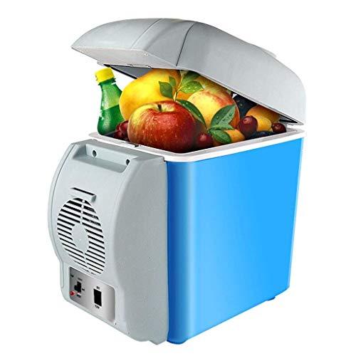 GUOCAO 7,5 L calentador de coche refrigerador de doble núcleo DC 12 V de doble núcleo de aire acondicionado portátil refrigeradores