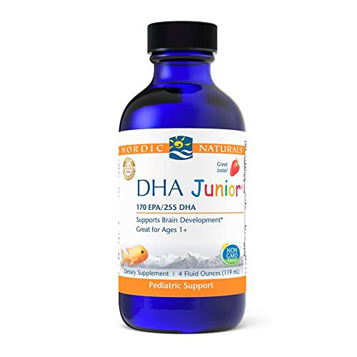 Nordic Naturals Pro DHA Junior, Strawberry - 4 oz - 530 mg Total Omega-3s with EPA & DHA - Brain Development & Visual Function - Non-GMO - 48 Servings