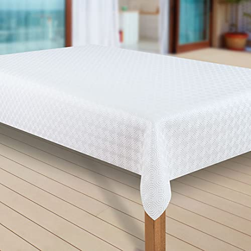 laro Tischdecke Molton Tischläufer Tischpolster Tischschoner Tischunterlage PVC abwaschbare Tischdecke Wasserabweisend Schutz  79 , Muster:Molton, Größe:60x140 cm