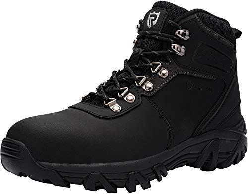 Zapatos de Seguridad Hombre,SBP Sra Anti-Aplastante Anti-Punción Anti-Deslizante Reflectivo Calzados de Trabajo Botas de Seguridad,45 EU,Negro