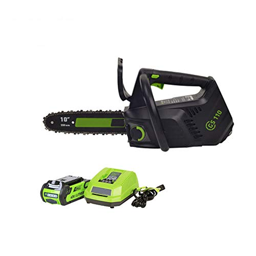ZZBB 40V Cordless Chain Saw Brushless One Hand Operate Chainsaw Electric Portable Battery Chain Saw 10 Inch Guide Bar with 2.5Ah Battery and Charger