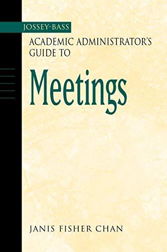 Jossey-Bass Academic Admin.Gde. Meetings