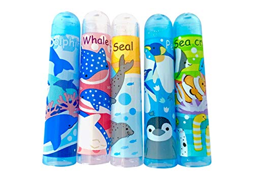 ヤエックス 水族館 限定 海のなかま 鉛筆 キャップ (5本セット×1個)