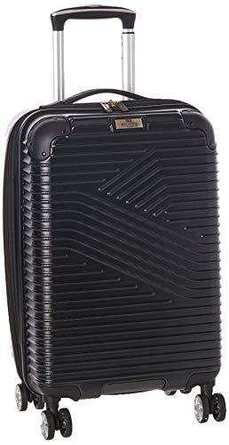 Ben Sherman Bangor 20' Lightweight Hardside PET 8-Wheel Spinner Expandable Carry-On Luggage / Suitcase, Black