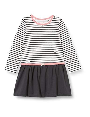 Sanetta Baby-Mädchen Kleid Ivory Kinderkleid, beige, 074