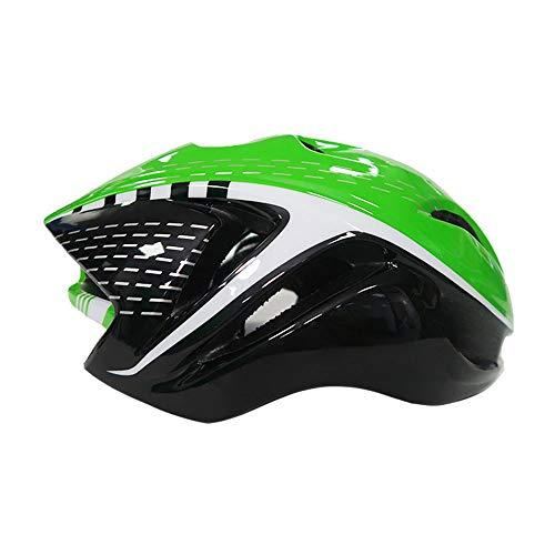 Upanbike casco da mountain bike da equitazione, monopezzo regolabile, per ciclismo, skateboard, di taglia media, per adulti, uomini e donne (verde e nero)
