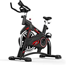 Rindasr Exercise Bike for Home use Foldable Cycling Exercise Bike,Promise Resistance Adjustment +LED Multi-Function Instru...