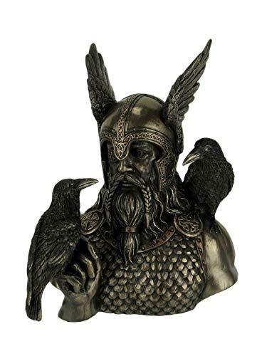 Veronese Odin Norse God with Ravens Statue Sculpture Figurine