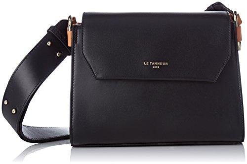 Le Tanneur Léa Tlea1200 - Borse a tracolla Donna, Nero (Noir), 9x18x23 cm (W x H L)