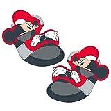 Mickey Mouse S0712113, Flat Sandal Unisex-Child, Rojo Negro