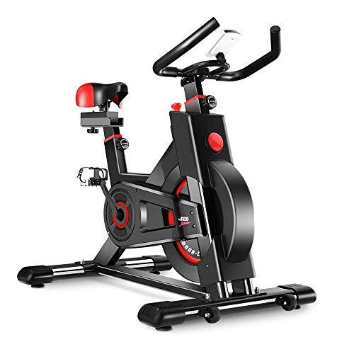 WJFXJQ Bicicletas de Ejercicio Vertical Grande bidireccional del Volante de la Correa Resistencia Impulso Infinito Pantallas LCD de Inicio Cardio Workout