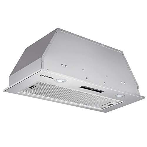 Orbegozo CA 08190 IN - Campana extractora cassette 90 cm, acero inoxidable, extracción 615,7 m3/h, 3 niveles de potencia, filtro de aluminio desmontable, iluminación LED