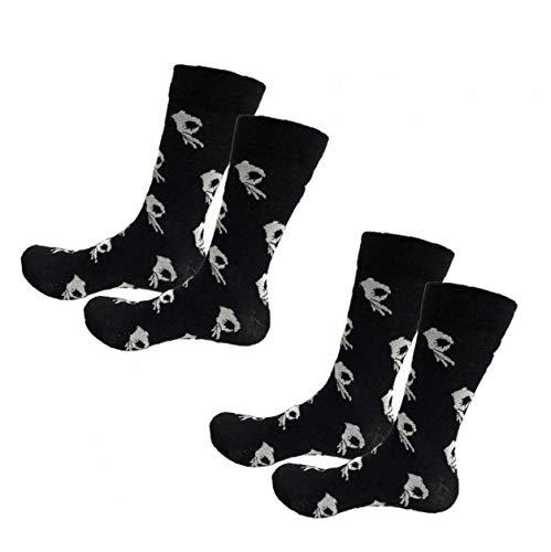 Soft Casual Calcetines Calcetines manera impresos creativos transpirables duraderos calcetines calcetines de algodón caliente portátiles Calcetines de invierno Hombres Mujeres 2Pair Blanca