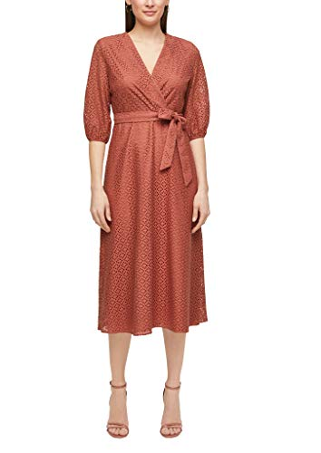 s.Oliver BLACK LABEL Damen 150.10.104.20.200.2063099 Kleid, Dusty apricot, 38