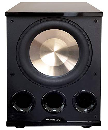 "BIC Acoustech Elite Series PL-300 12"" Powered Subwoofer – 1400W with Tri-Tuned Ports and ""BASS Boost"" Feature for Room Shaking Bass Down to 15Hz"