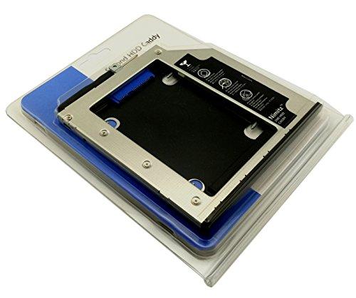 Nimitz Festplatten-Caddy für 2. HDD-SSD-Festplatte, für Lenovo Thinkpad T440p T540p W540p W541 mit Blende