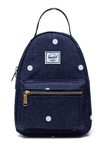 Herschel Nova Mini Backpack Polka Dot Crosshatch Peacoat